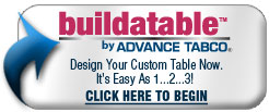 Advance Tabco - Design your own custom Table with Advance Tabco's Build A Table Program. It's as easy as 1-2-3!