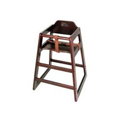 ChefsFirst offers equipment & supplies for restaurants, commercial kitchens, foodservice & manufacturing facilities. Check out our low price for this High Chair, Walnut Finish - Assembled, CHH-104A by California Cooking.