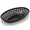 ChefsFirst offers equipment & supplies for restaurants, commercial kitchens, foodservice & manufacturing facilities. Check out our low price for this Basket, Fast Food Oval Plastic - Black, 1074BK by TableCraft.