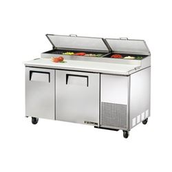 ChefsFirst offers equipment & supplies for restaurants, commercial kitchens, foodservice & manufacturing facilities. Check out our low price for this Refrigerators, Pizza Prep Table - 2 Section, TPP-60 by True.