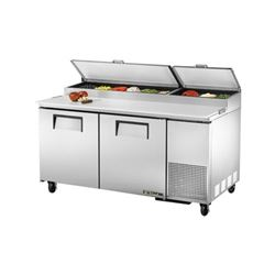ChefsFirst offers equipment & supplies for restaurants, commercial kitchens, foodservice & manufacturing facilities. Check out our low price for this Refrigerators, Pizza Prep Table - 2 Section,TPP-67 by True.