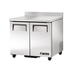 "ChefsFirst offers equipment & supplies for restaurants, commercial kitchens, foodservice & manufacturing facilities. Check out our low price for this Refrigerator, Work Top 36"" Solid Door - 2 Section, TWT-36 by True."