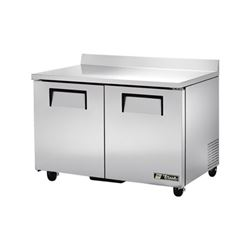 "ChefsFirst offers equipment & supplies for restaurants, commercial kitchens, foodservice & manufacturing facilities. Check out our low price for this Freezer, Work Top 48"" Solid Door - 2 Section, TWT-48F by True."