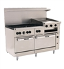 "ChefsFirst offers equipment & supplies for restaurants, commercial kitchens, foodservice & manufacturing facilities. Check out our low price for this Range, 60"", 6 Burners, 24"" Raised Griddle,  2 Standard Ovens - L.P. Gas, 60SS-6B-24GB-P by Vulcan."