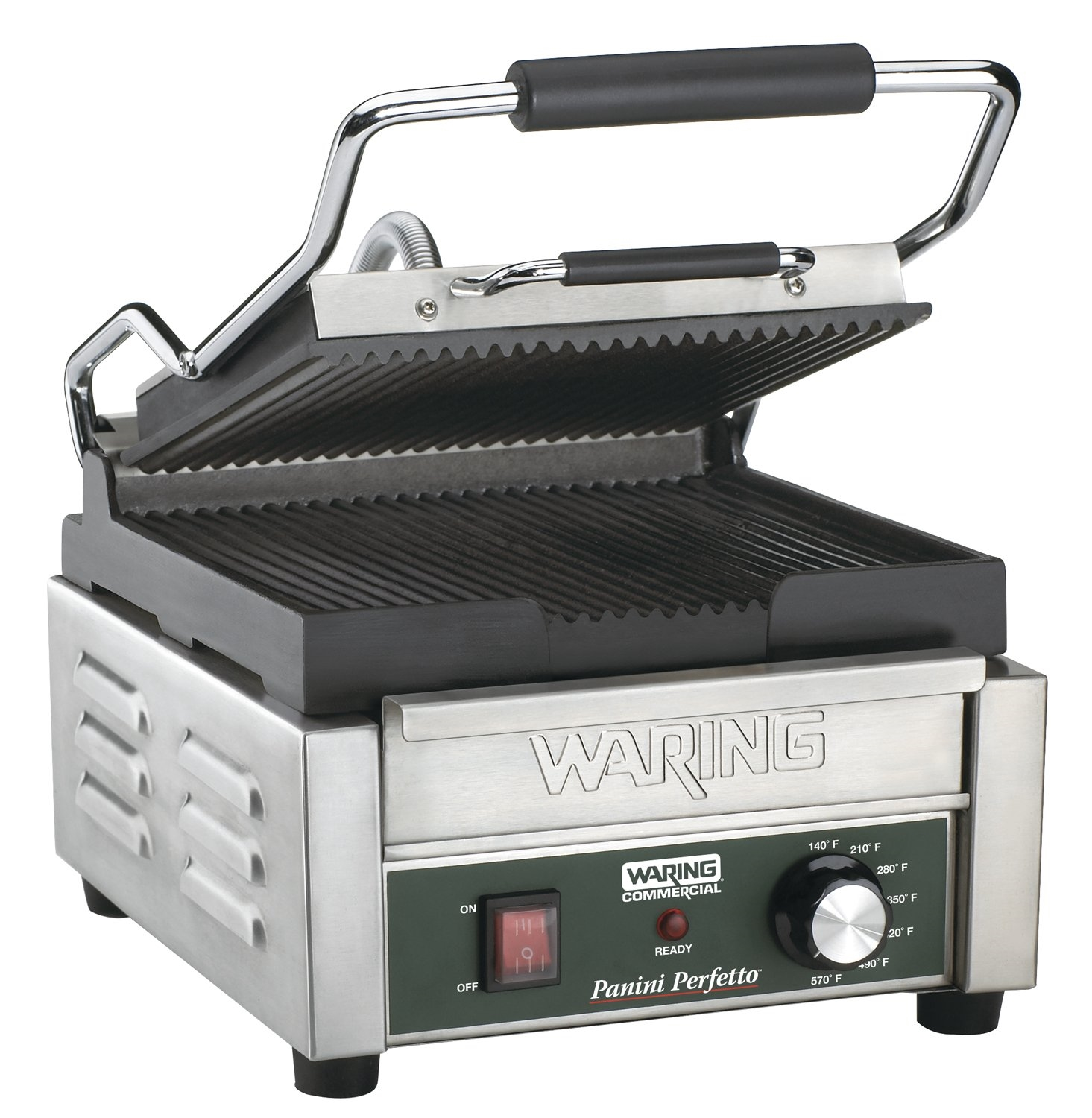 waring panini grill small single ribbed 120v wpg150. Black Bedroom Furniture Sets. Home Design Ideas