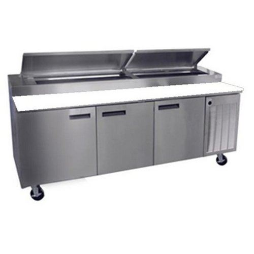 Delfield Refrigerator Pizza Prep Table Section Includes - Restaurant prep table cutting boards